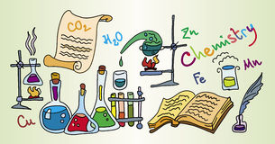 Chemistry Lab. (funny bright illustration Royalty Free Stock Image