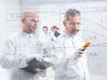 Chemistry lab data analysis Royalty Free Stock Image
