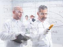 Chemistry lab data analysis Royalty Free Stock Image