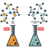 Chemistry Lab Elements fusion molecules. This chemistry lab elements can be used for your website banners or print brochures or as educative. Available in vector stock illustration