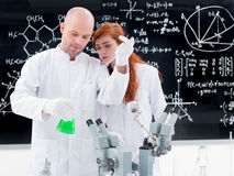 Chemistry lab experiment Royalty Free Stock Photos