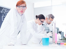 Chemistry lab experiments Stock Image