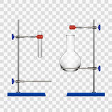 Chemistry Lab Flask And Tubes Grip Stand Holder Stock Photography