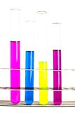 Chemistry lab glassware equipment Royalty Free Stock Images