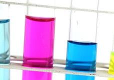chemistry lab glassware equipment Stock Photo