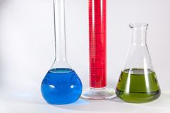Chemistry lab set Royalty Free Stock Photos