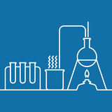 Chemistry with lab test and research equipment Royalty Free Stock Photography
