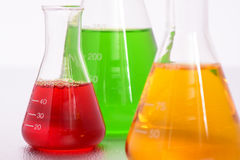 Chemistry lab with test tubes. Chemistry laboratory with glassware and test tubes Stock Photo