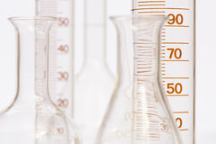 Chemistry lab with test tubes. Chemistry laboratory with glassware and test tubes Stock Photography