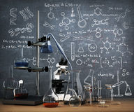 Chemistry laboratory concept. Stock Photo
