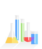 Chemistry laboratory flat vector background Royalty Free Stock Photography