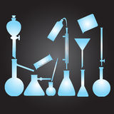 Chemistry laboratory glassware eps10 Stock Photos