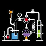 Chemistry Laboratory Infographic Set 2 Royalty Free Stock Image