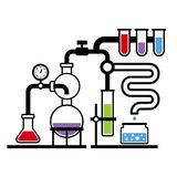 Chemistry Laboratory Infographic Set 3 Royalty Free Stock Images