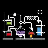 Chemistry Laboratory Infographic Royalty Free Stock Photos