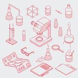 Chemistry Laboratory Objects Set royalty free illustration
