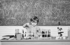 Chemistry laboratory. Practical knowledge concept. Study grants and scholarship. Wunderkind and early development. Smart stock images
