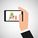 Chemistry laboratory smartphone discovery. Vector illustration esp 10 Royalty Free Stock Images