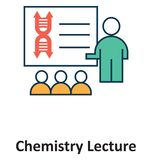 Chemistry Lecture Isolated and Vector Icon for Technology royalty free illustration