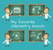 Chemistry lesson chalkboards Stock Photography
