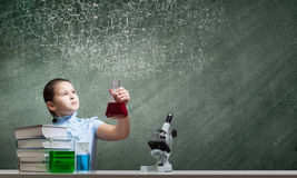 At chemistry lesson Stock Photos