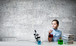 At chemistry lesson Stock Photography