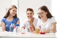 Chemistry lesson. Stock Photos