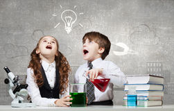 At chemistry lesson Royalty Free Stock Image