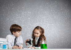 At chemistry lesson Royalty Free Stock Images