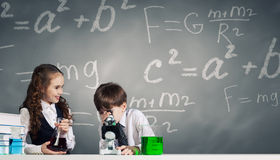 At chemistry lesson Stock Image