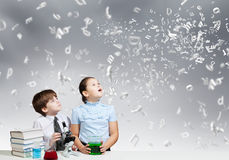 At chemistry lesson Stock Images
