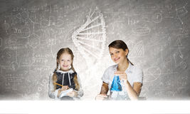 Chemistry lesson Royalty Free Stock Images