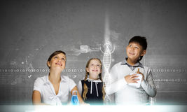 Chemistry lesson Stock Image