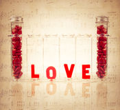 Chemistry of Love colorful Concept Stock Image