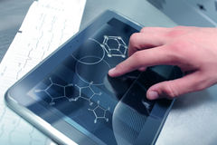 Chemistry and medicinein. Chemistry and medicine in modern technologies Royalty Free Stock Photo