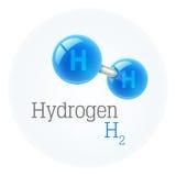 Chemistry model of hydrogen molecule scientific elements Stock Photo