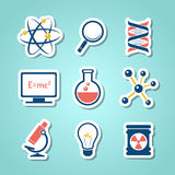 Chemistry paper cut icons Stock Images