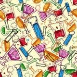 Chemistry pattern. Chemistry symbols seamless background pattern Stock Photography