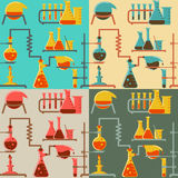 Chemistry pattern Royalty Free Stock Image
