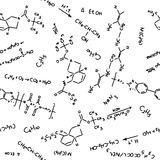 Chemistry pattern Royalty Free Stock Images