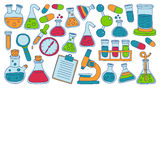 Chemistry Pharmacology Natural sciences Vector doodle set Royalty Free Stock Photography