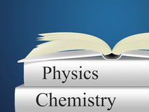 Chemistry Physics Means Non-Fiction Science And Chemicals Stock Photography