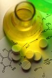 Chemistry and pills Royalty Free Stock Image