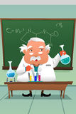 Chemistry professor working at the lab Stock Photo