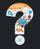 Chemistry question mark. Royalty Free Stock Photography