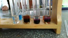 Chemistry reaction Royalty Free Stock Photo