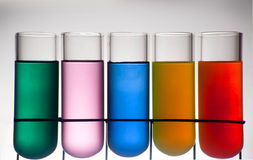 Chemistry recipient with ink color. A Chemistry recipient with ink color inside stock photography