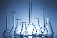 Chemistry recipient in a laboratory ambiance. A Chemistry recipient in a laboratory ambiance royalty free stock photos