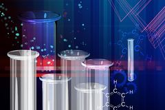 Chemistry Research Abstract Background - Illustration Royalty Free Stock Images