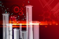 Chemistry Research Abstract Background - Illustration Stock Images